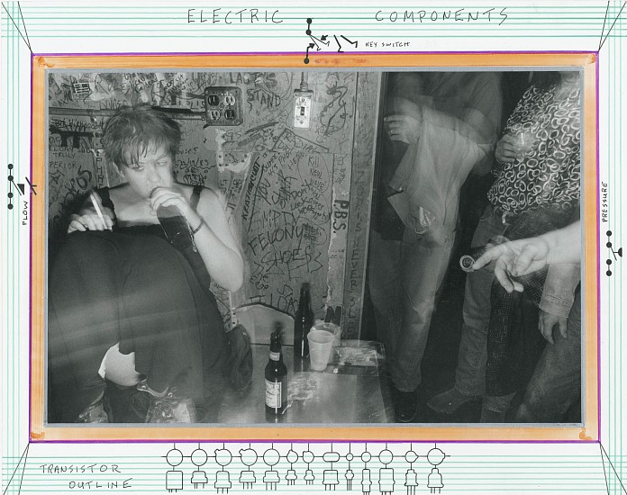 Roswell Angier, The Rat, Boston 1988, Vintage gelatin silver print (with text and colored ink)