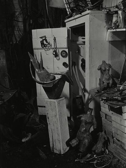 Eliot Elisofon, David Smith's Studio 1938, Vintage gelatin silver print