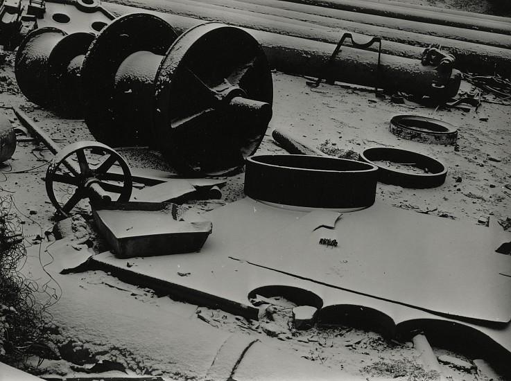 Eliot Elisofon, David Smith's Studio, Iron and Snow 1938, Vintage gelatin silver print