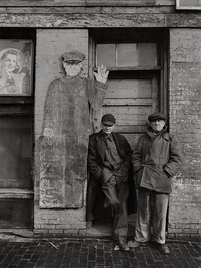Eliot Elisofon, Portland ME, Longshoremen John E. Moran, James E. Shaw 1948, Vintage gelatin silver print