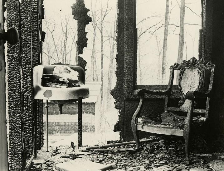 Eliot Elisofon, Burned House Interior c. 1938, Vintage gelatin silver print