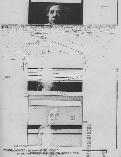 William Larson, Untitled, Fireflies series 25-Mar-73, Electro-carbon print