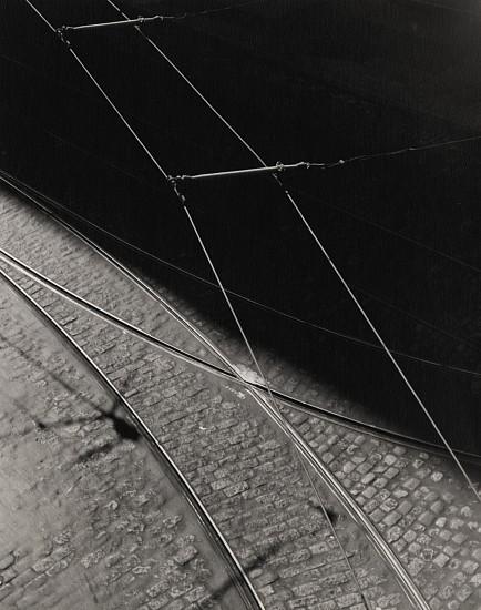 Ferenc Berko, Tramlines, New York 1949, Early gelatin silver print