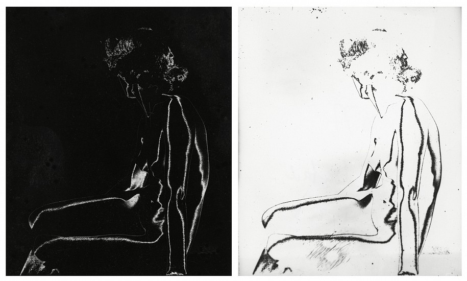 Ferenc Berko, Solarized Nudes c. 1950-51, Two vintage gelatin silver prints