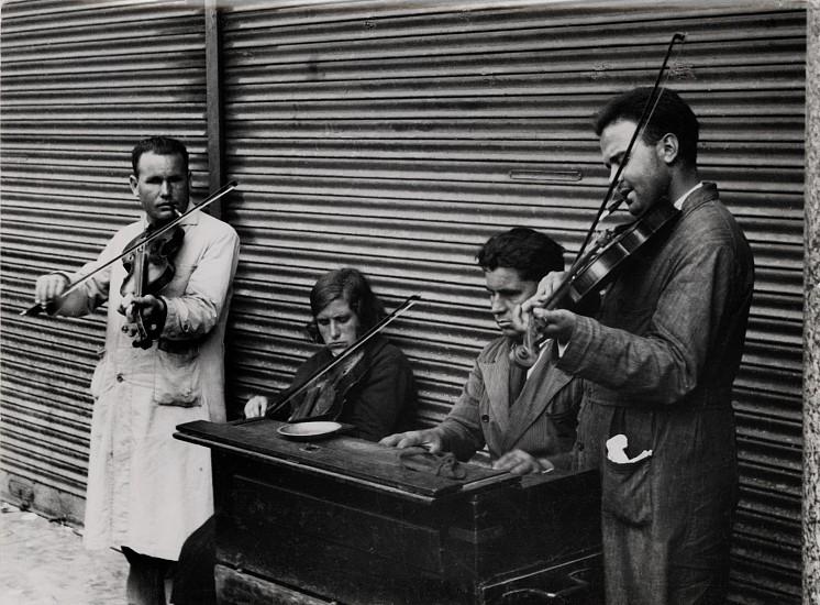 Ferenc Berko, Blind Musicians, Barcelona 1933, Vintage gelatin silver print