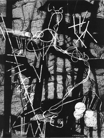 Roger Catherineau, Photogramme 1957, Vintage gelatin silver print