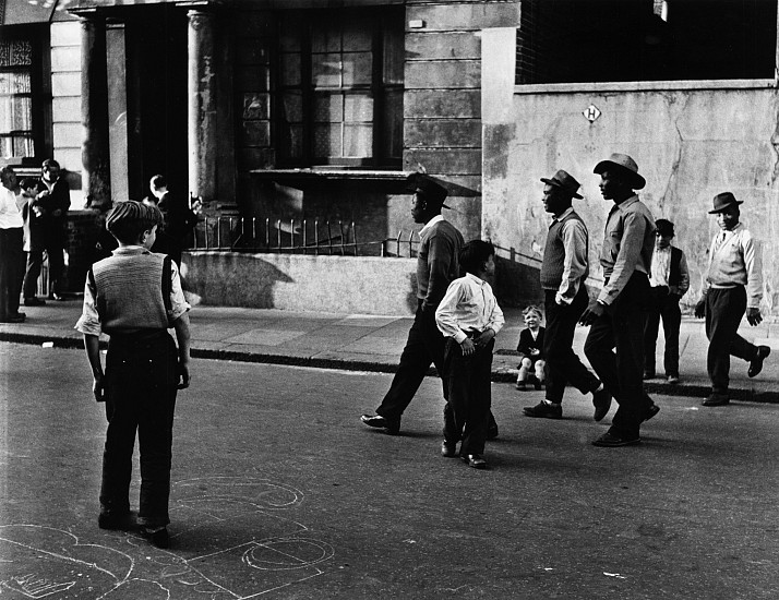Roger Mayne, West Indians, Southam Street, North Kensington, London 1956, Gelatin silver print; printed late 1970s