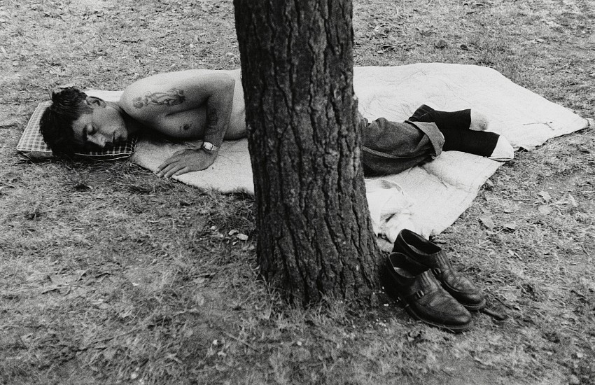 Robert Frank, Public Park - Cleveland Ohio 1955, Gelatin silver print; printed 1970s