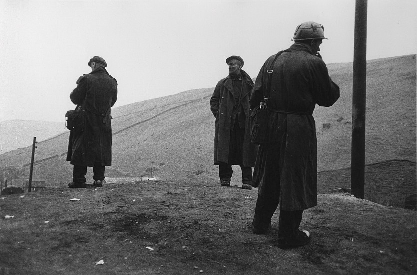 Robert Frank, Three Welsh Miners 1951, Gelatin silver print; printed later