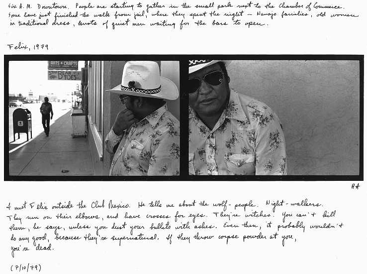 Roswell Angier, Felix, Highway 66, Gallup 1979, Vintage gelatin silver print