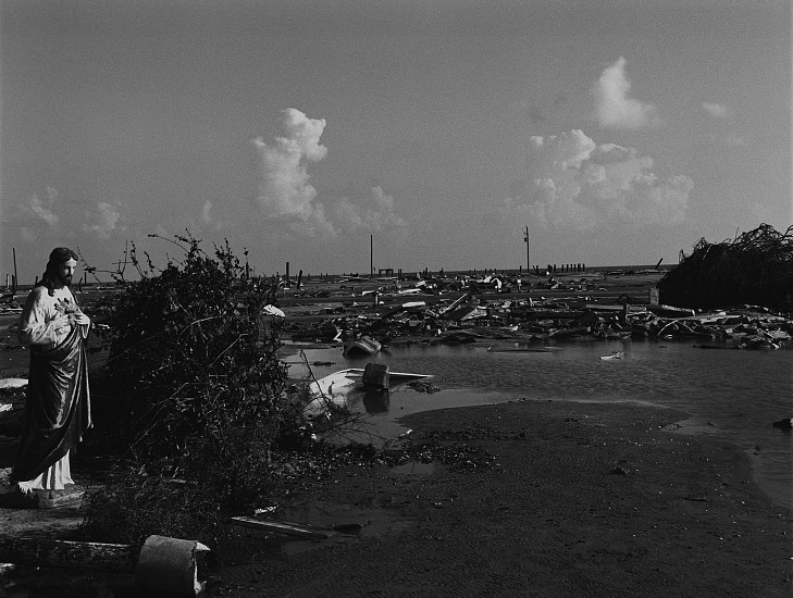 Debbie Fleming Caffery, Jesus Praying at Devastated Holly Beach Oct-05, Gelatin silver print