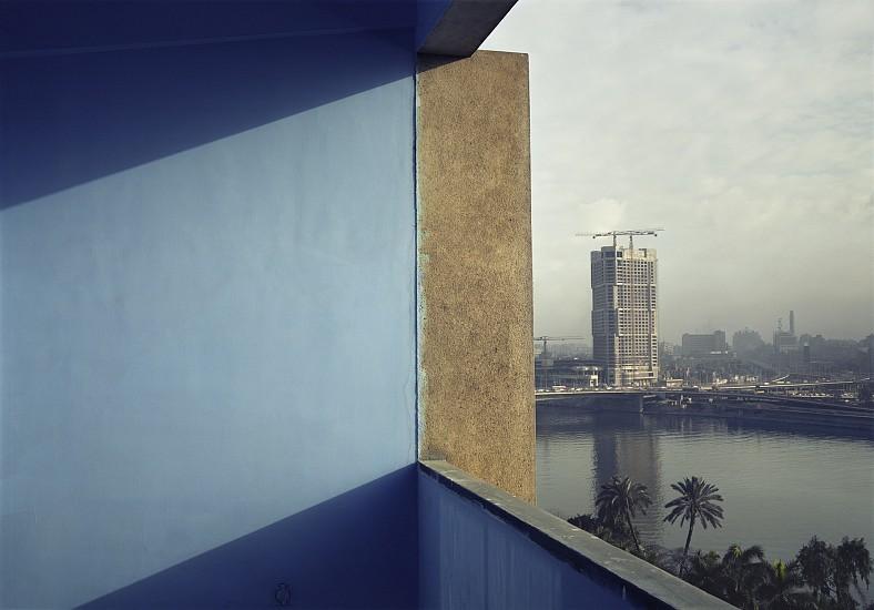 Adam Bartos, Cairo, Egypt (Ramses Hilton under construction) 1980, Pigment print
