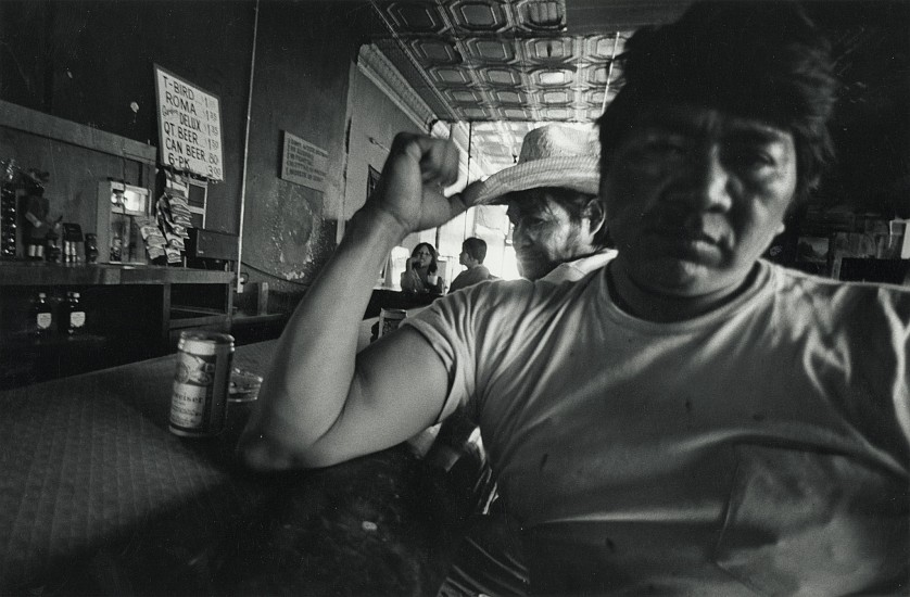 Roswell Angier, Indian Head Bar, Holbrook, Arizona 1980, Vintage gelatin silver print