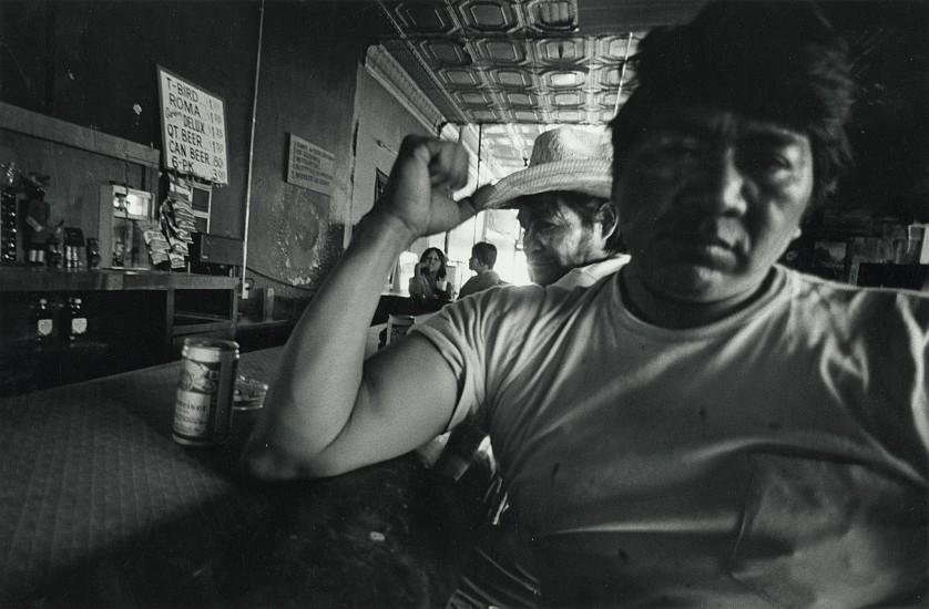 Roswell Angier, Indian Head Bar, Holbrook, Arizona 1980, Vintage gelatin silver print