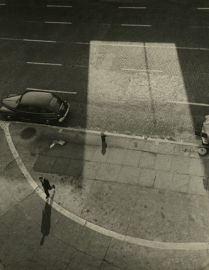 Gita Lenz, Street Scene (Carmine Street & 7th Avenue, NY) late 1940 - 1950s, Vintage gelatin silver print
