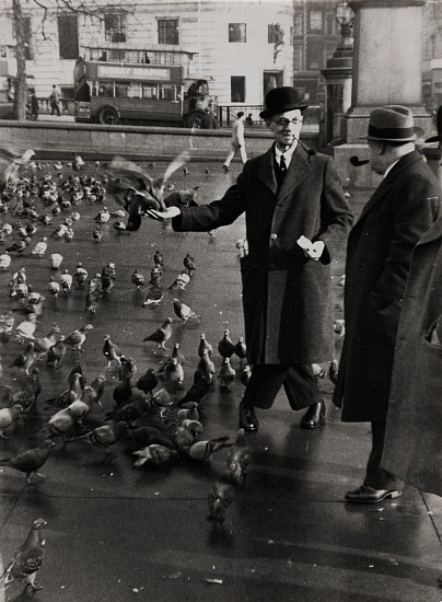 Ferenc Berko, Feeding the Pigeons, Trafalgar Square, London 1936, Vintage gelatin silver print