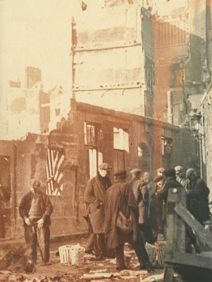 Josef Breitenbach, Demolition Site, Paris 1933-39, Vintage toned gelatin silver print