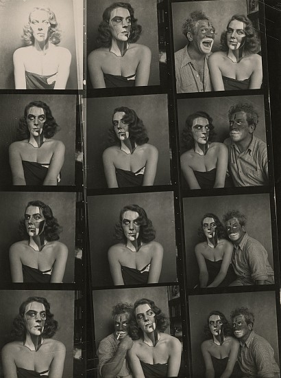 Josef Breitenbach, Portraits with Make Up, New York c. 1945, Vintage gelatin silver print