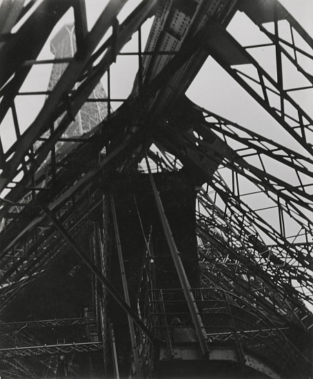 Josef Breitenbach, Eiffel Tower, Paris 1928, Vintage gelatin silver print