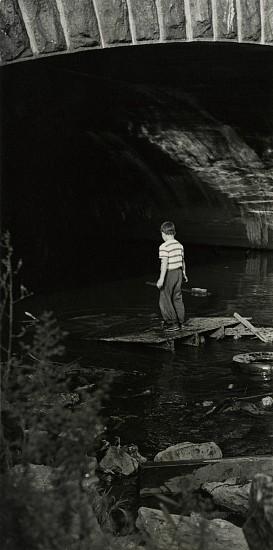 Gita Lenz, Boy Under Bridge 1950s, Vintage gelatin silver print